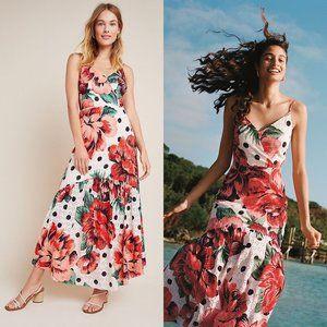 ANTHROPOLOGIE Farm Rio Riviera Eyelet Maxi Dress